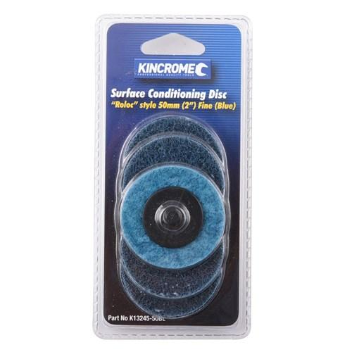 "'ROLOC' STYLE SANDING DISCS 2"" (50MM) 80 GRIT (FINE) 5 PACK 1"