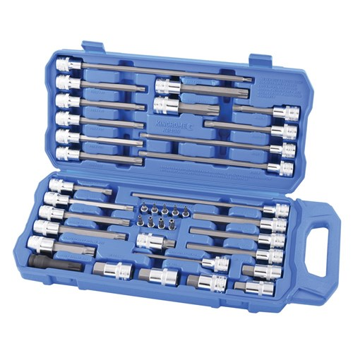 AUTOMOTIVE BIT SOCKET SET 38 PIECE 14 & 12 DRIVE 1