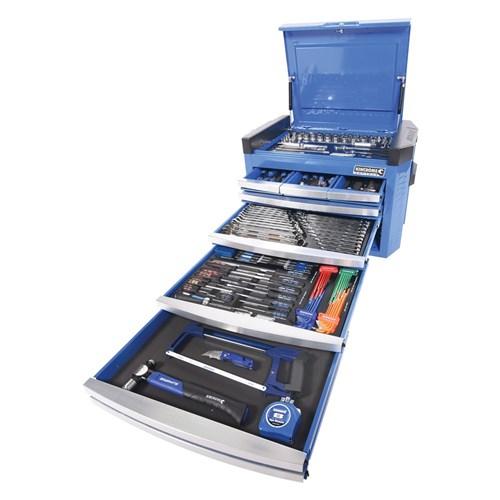 CONTOUR® TOOL CHEST 236 PIECE 14, 38 & 12 DRIVE (blue) 1