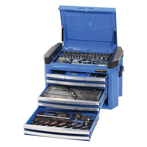 CONTOUR TOOL CHEST KIT 207 PIECE 14, 38 & 12 DRIVE (blue) 1
