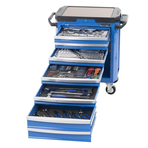 CONTOUR TOOL TROLLEY 242 PIECE 14, 38 & 12 DRIVE (blue) 1