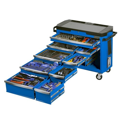 CONTOUR TOOL TROLLEY 485 PIECE 14, 38 & 12 DRIVE (blue) 1