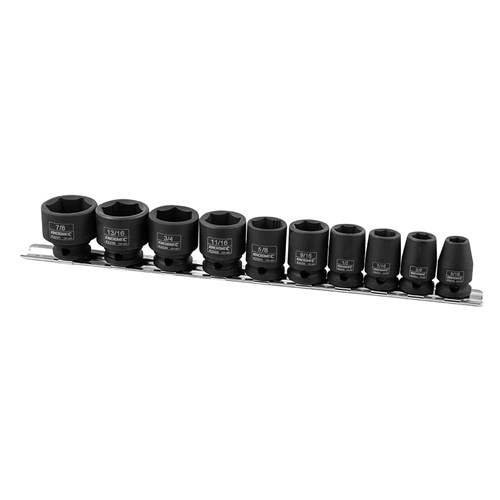IMPACT SOCKET RAIL 10 PIECE 38 DRIVE - IMPERIAL 1