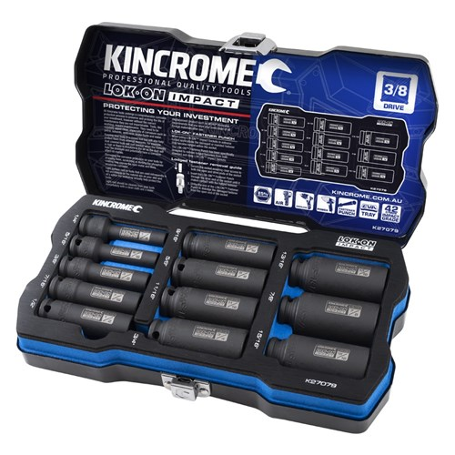 LOK-ON™ DEEP IMPACT SOCKET SET 12 PIECE 38 DRIVE - IMPERIAL 1