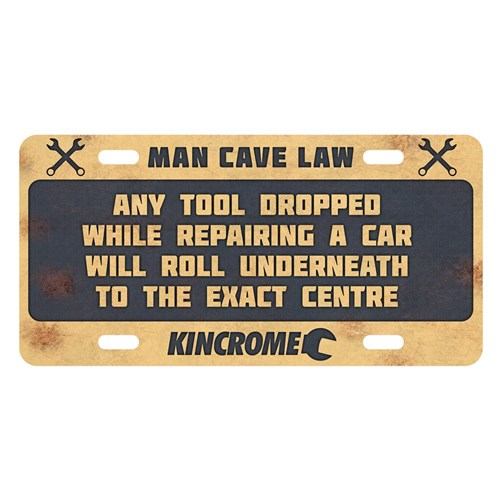 RETRO™ SIGN MAN CAVE LAW - UNDER CAR 1