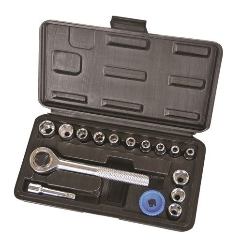SOCKET SET 16 PIECE 14 DRIVE - METRIC 1