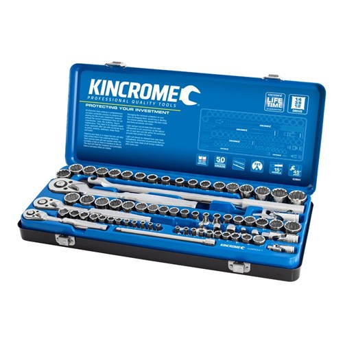 SOCKET SET 74 PIECE 14, 38 & 12 DRIVE - METRIC & IMPERIAL 1