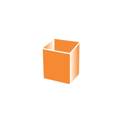 STORAGE CONTAINER SMALL ORANGE 1