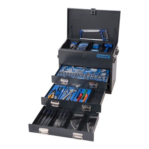 TRUCK BOX TOOL KIT 219 PIECE 14, 38 & 12 DRIVE (black) 1