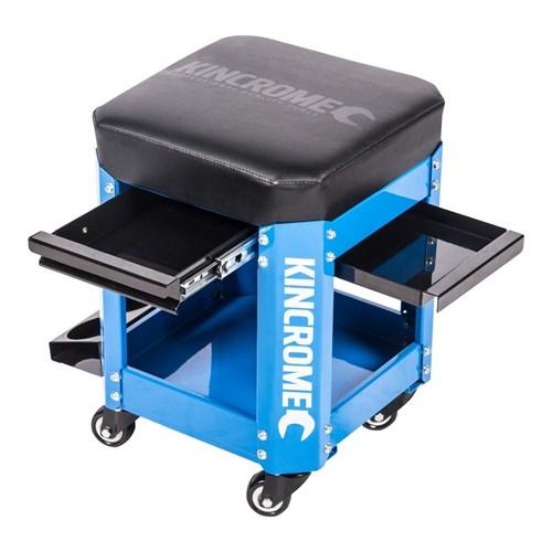 WORKSHOP CREEPER SEAT 2 DRAWER ELECTRIC BLUE™ 1