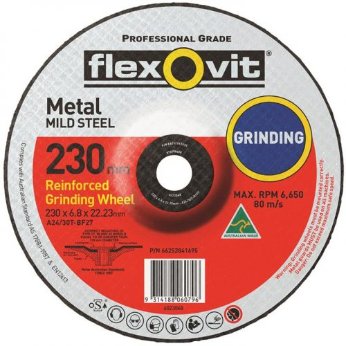 Depressed-Centre-Grinding-Wheel-Metal-230mm-x-6.8mm-x-22mm-A2430T-Flexovit