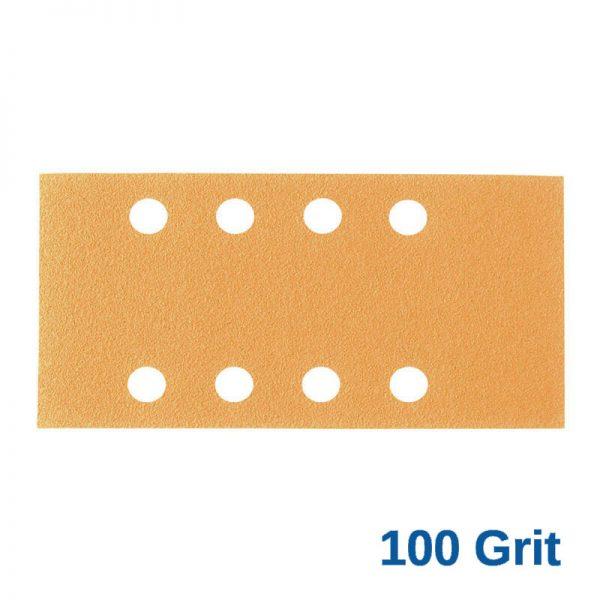 100Grit Smirdex Velcro 81 x 153mm x 8Hole