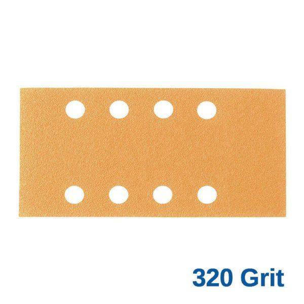 320Grit Smirdex Velcro 81 x 153mm x 8Hole