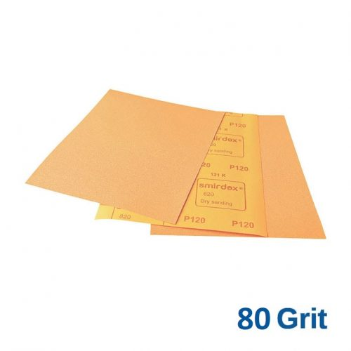 80 Grit Smirdex 820 Dry Rub Sheets Pack of 50