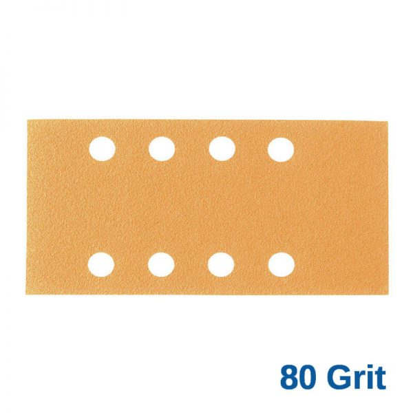 80Grit Smirdex Velcro 81 x 153mm x 8Hole