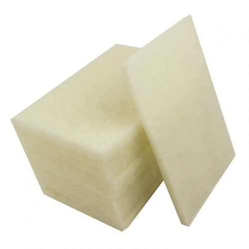 Abrasive Hand Pad 6 x 9 White - 10 Pieces