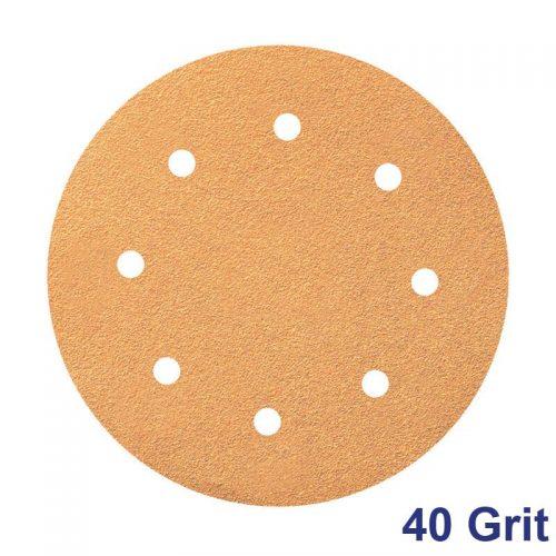 Smirdex 40 GRIT Velcro Disc 8x 8H Pk50