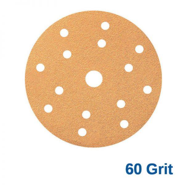 Smirdex 60 GRIT Velcro Disc 15H x 6 Pk50