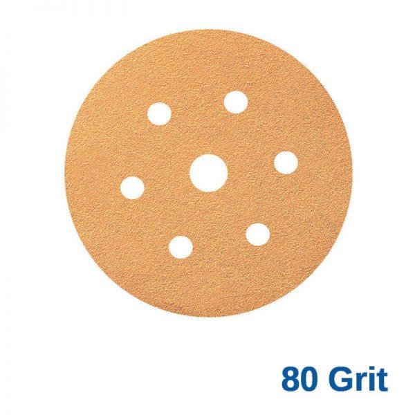 Smirdex 80 GRIT Velcro Disc 7H x 6 Pk100