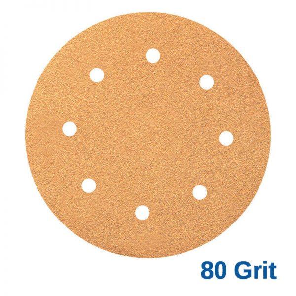 Smirdex 80 GRIT Velcro Disc 8 x 8H Pk100