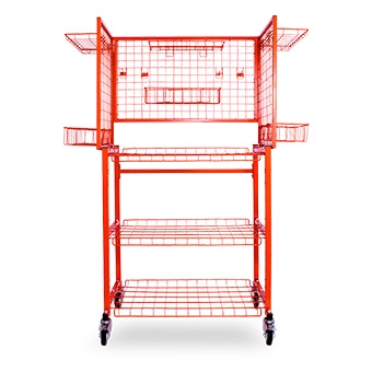 Multi Level Parts Cart - Box Mount 126 x 60 x 175cm